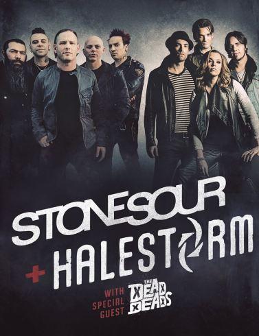 Flyer Stone Sour et Halestorm (tournée américaine)